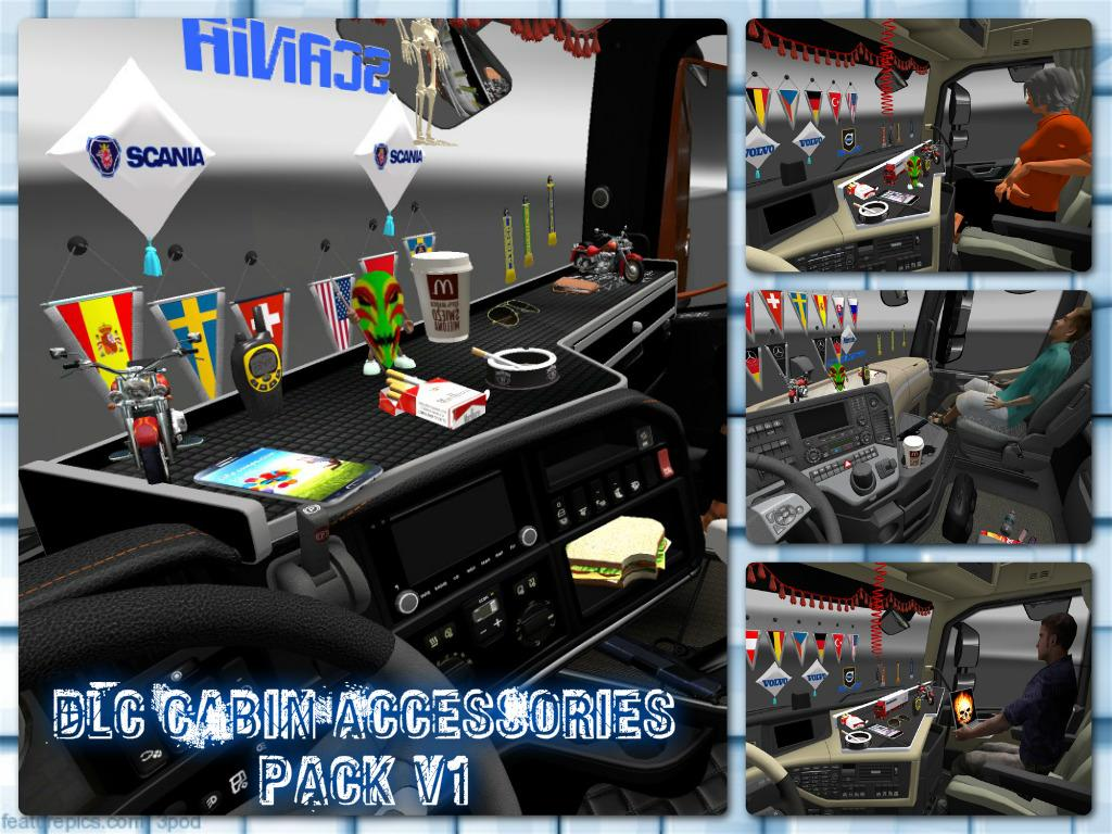 DLC CABIN ACCESSORIES PACK V1 121 ETS 2 Euro Truck