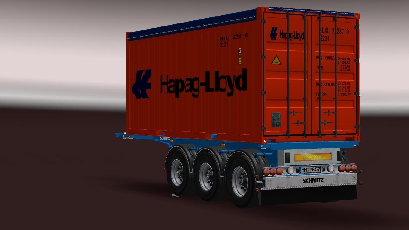 SCHMITZ 20FT OPENTOP CONTAINER UPDATE V11 For ETS2 Euro Truck Simulator 2 Mods