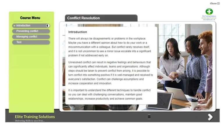 E-Learning Conflict Resolution Training Course