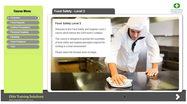 E-Learning Food Safety Level 2