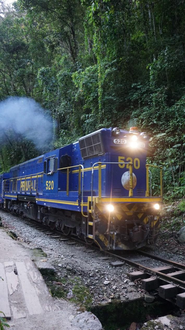 Machu Picchu - Le train