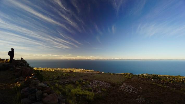 Puno ...? Ou plutôt le lac Titicaca - La vue de Amantani