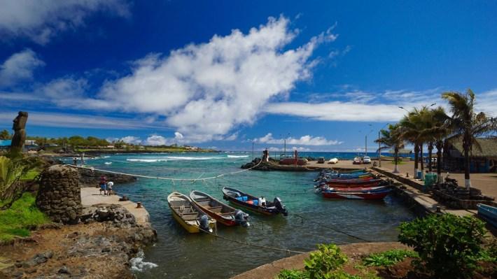 Île de Pâques - À la recherche de Rapa Nui pool - Le petit port