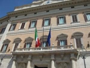 Palazzo Montecitorio. Portone d'ingresso della Camera dei Deputati.