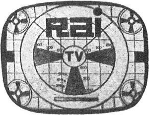 Il primo logo della Rai-tv (1953).