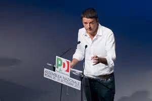 Renzi parla all'Assemblea nazionale del Pd
