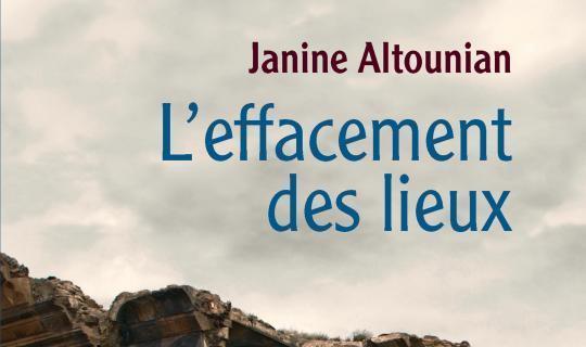 [Parution] «L'effacement des lieux» de Janine Altounian