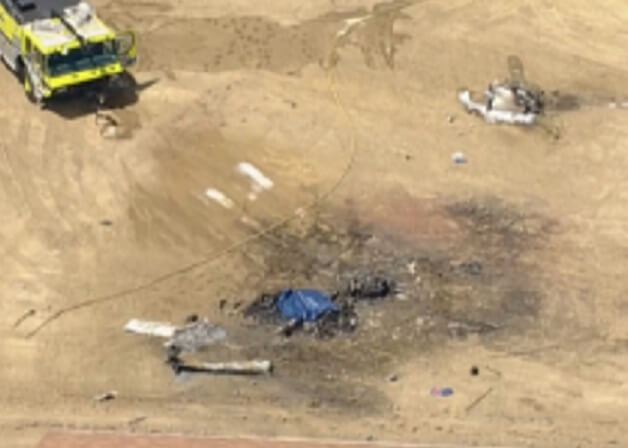 Fiery plane crash kills 1 in Colorado north of Fort Collins-Loveland Airport 1