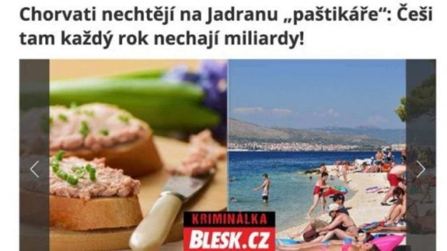 Czech tourists stay in cheap hotels in Croatia