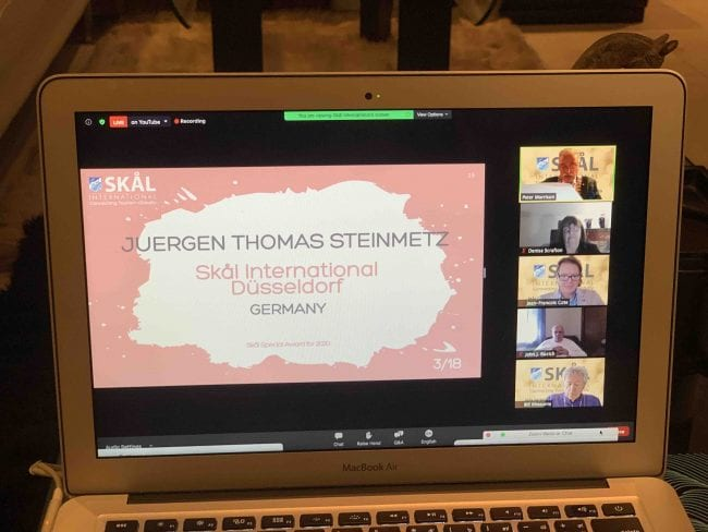 , eTN Publisher Juergen Steinmetz receives SKAL International Presidents Award, For Immediate Release | Official News Wire for the Travel Industry