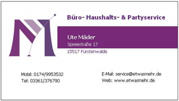 Büro-,Haushalt- & Partyservice Ute Mäder