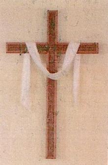 Peter Etcheto carved the cross in our sanctuary.