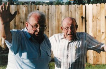 Ray's brother Peter on the left.