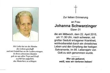 Schwarzinger Johanna