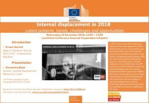 Le cas des personnes en situation de déplacements internes en 2018