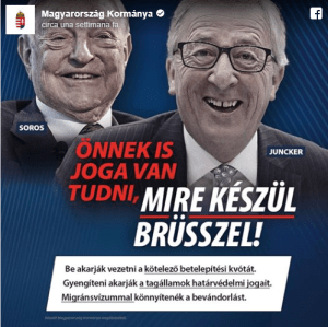 #LaRéplique. Orban launches media campaign on migrants against Juncker and Soros: «Let's stop Brussels!»