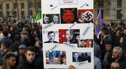 France Kurds Protest