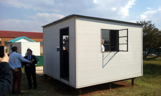 Low-cost housing solutions form plastic waste at Soweto.