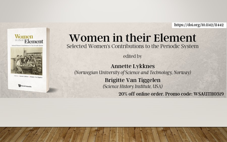 Women in their Element: a new book on the contribution of women to the Periodic Table