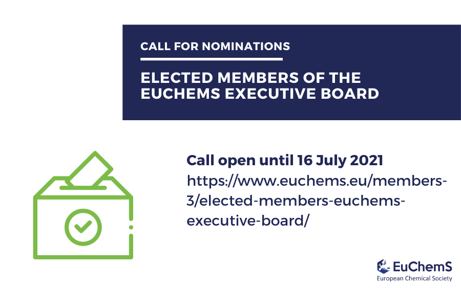2021 Call for Elected Members of the EuChemS Executive Board