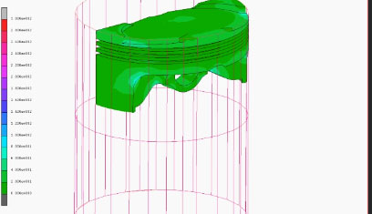 FEM Analisi termo-strutturale cilindro automotive