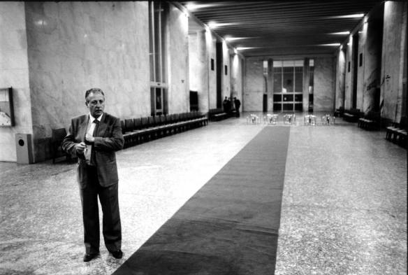 Paolo Borsellino, presso il Tribunale di Palermo.