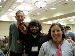 Geoff Ryman, Kat Howard, Me, and Keffy Kherli