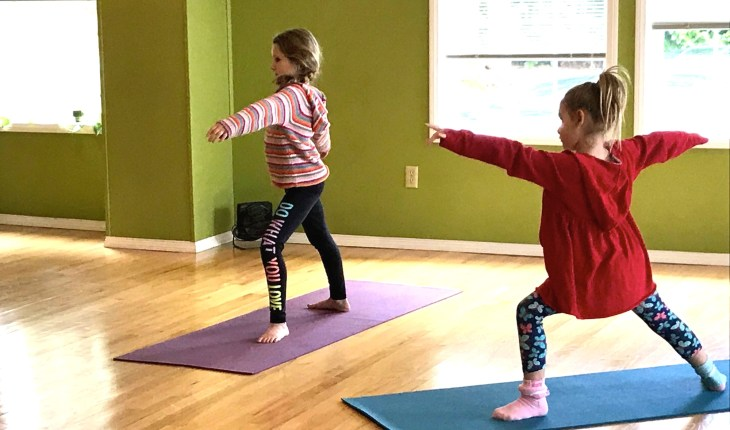 child yoga warriors