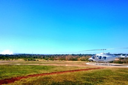 Helicopter over Victoria Falls (Copyright: Eugene Yiga)