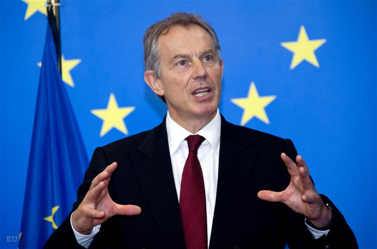 Image result for image of tony blair and the eu