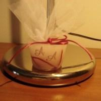 Γαμήλια Μπομπονιέρα από Κερί Σε Ροζ / Κόκκινες Αποχρώσεις