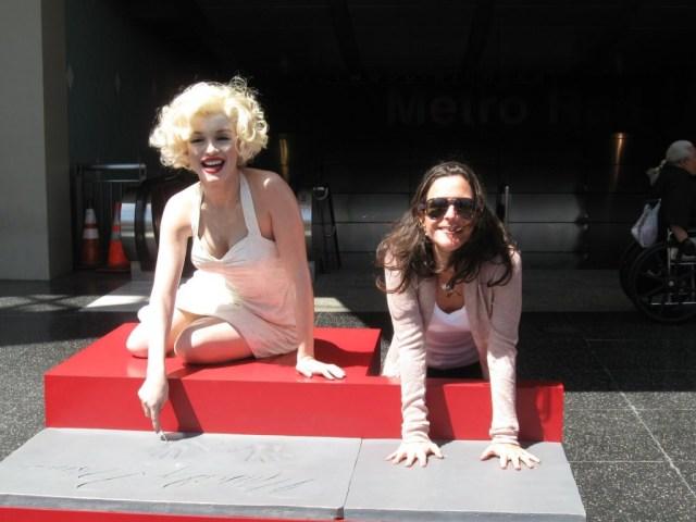 Hollywood - Walk of Fame - Com a Marilyn Monroe