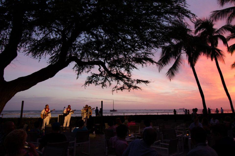 Pôr do sol em Waikiki