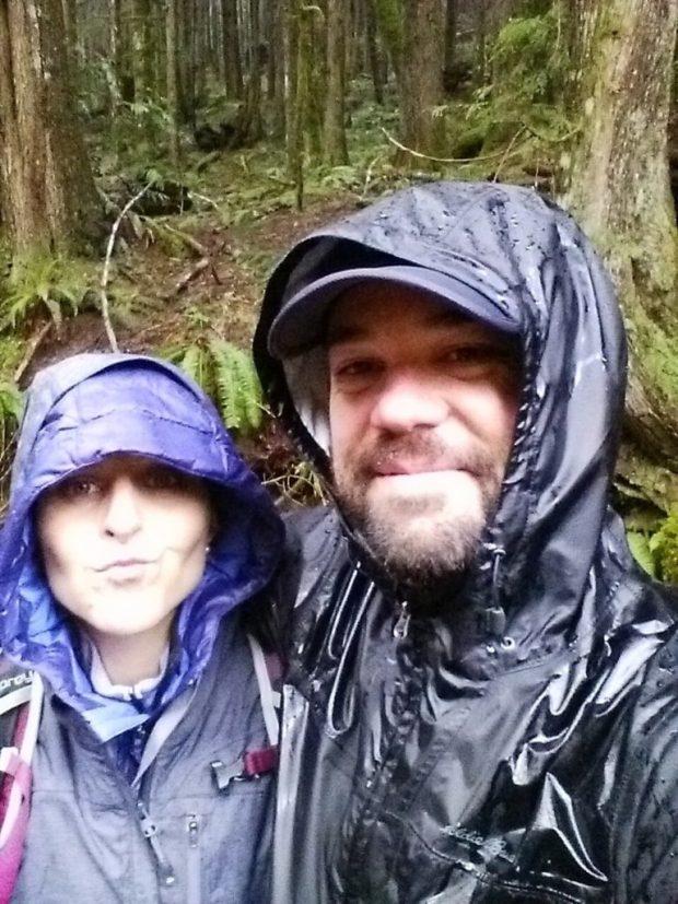 Eu e o Gordo no final do dia... dois pintos molhados.