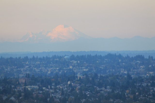 Vista da Space Needle - Mount Baker