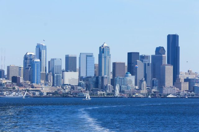Vista de Seattle - balsa para Bainbridge Island_1