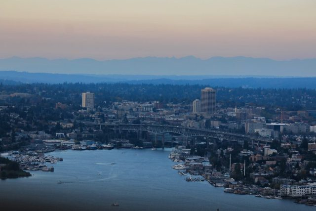 Vista da Space Needle - Lake Union