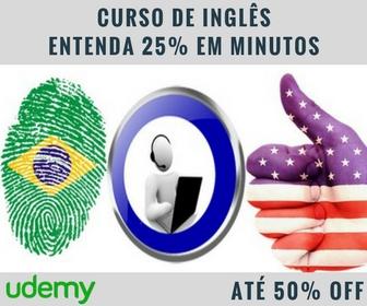 Udemy - Curso de Inglês Entenda 25% em Minutos