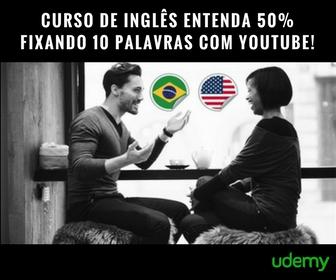 Udemy - Curso de Inglês Entenda 50% Fixando 10 Palavras Com YouTube!