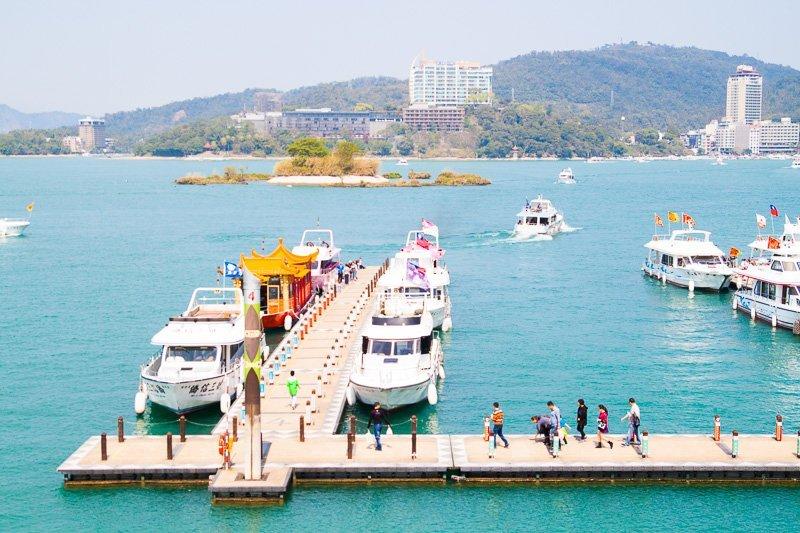 ferry pier at shueishe pier sun moon lake
