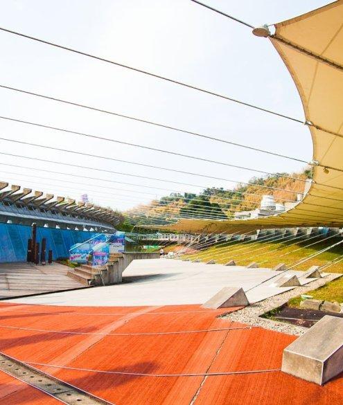 outdoor exhibiti in 921 earthquake museum of taiwan