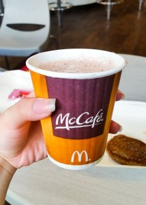 Hot chocolate at McDonalds in Taiwan