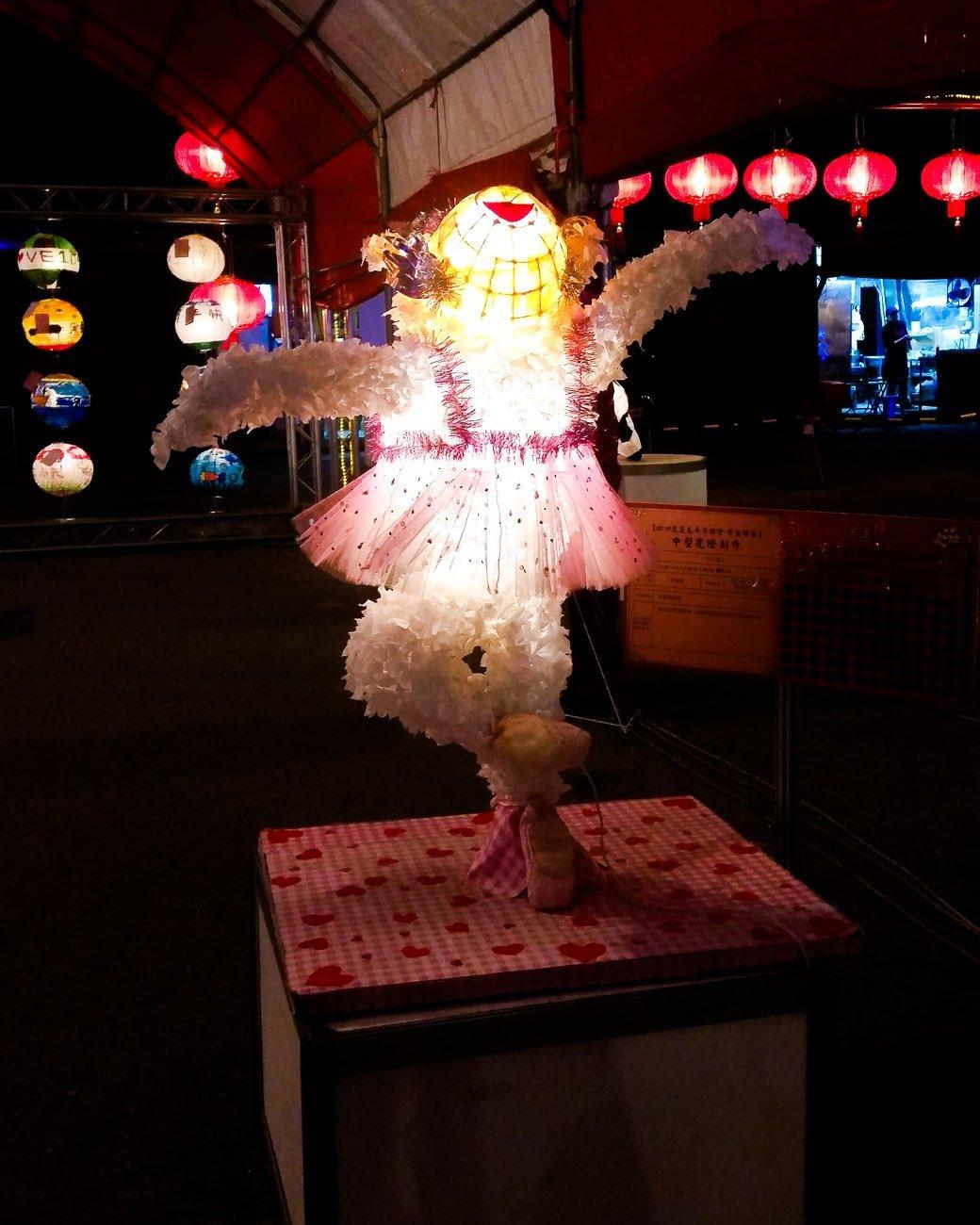 Ballerina lantern at Hualien Light Festival 2015