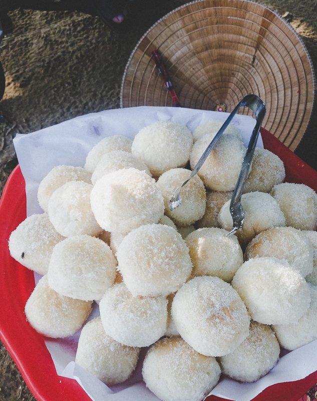 Cream Bun Street Food Perfume River Hue Vietnam