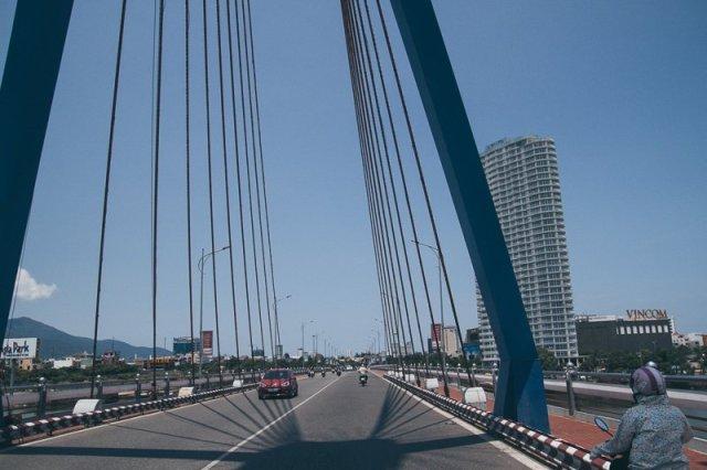 Cau Song Han Han Bridge Hue Adventure Motorbike Tour Vietnam Hoi An