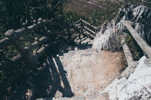 Steep Steps - Danang Ngu Hanh Son Marble Mountains Hue Adventure Motorbike Tour Vietnam Hoi An