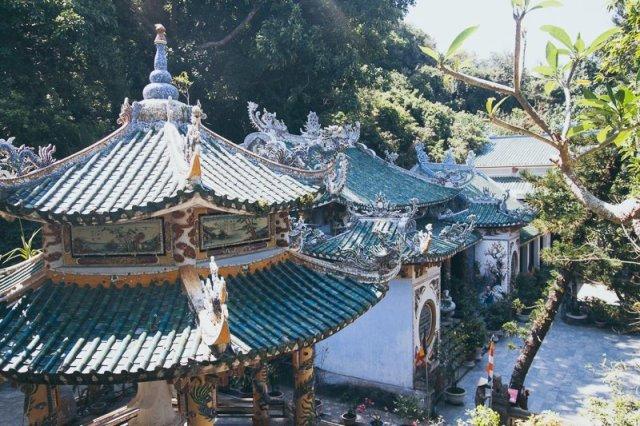 Temple 02 - Danang Ngu Hanh Son Marble Mountains Hue Adventure Motorbike Tour Vietnam Hoi An