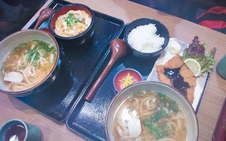 Japanese Meal near Fushimi Inari Kyoto Japan