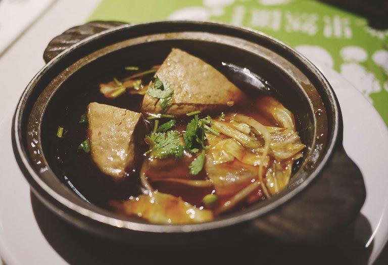 taipei vegetarian food - guo ran hui stinky tofu