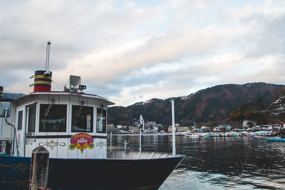 Sight-seeing pleasure boat around Lake Kawaguchiko